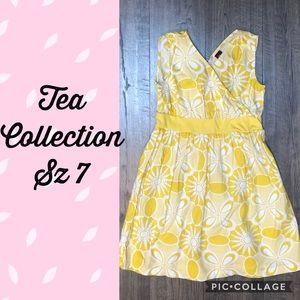 VGUC Tea Collection Yellow Sea urchin dress sz 7